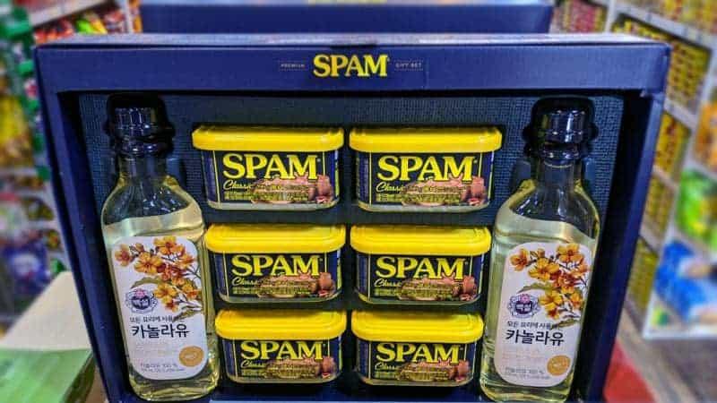 Set de regalo de Spam en Corea del Sur